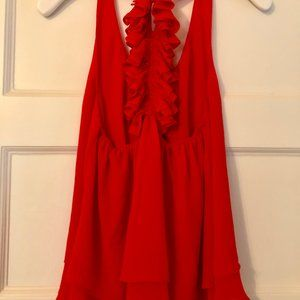 Red Ruffle Tank (From The Impeccable Pig)